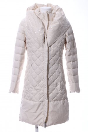 Twin-Set Simona Barbieri Quilted Coat cream quilting pattern casual look