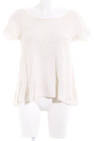 Twin-Set Simona Barbieri Knitted Jumper cream weave pattern fluffy