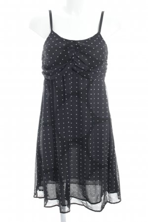 Twin-Set Simona Barbieri Trägerkleid schwarz-wollweiß Punktemuster
