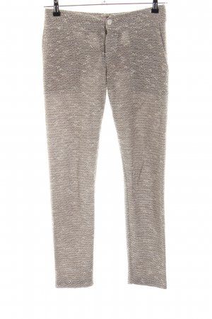 Twin-Set Simona Barbieri Woolen Trousers natural white-brown flecked casual look