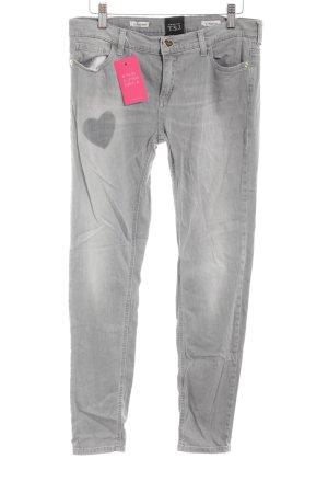 Twin set Skinny Jeans hellgrau Casual-Look