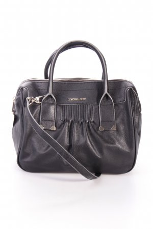 Twin-Set Small Plisse Medium Satchel Black Henkeltasche schwarz