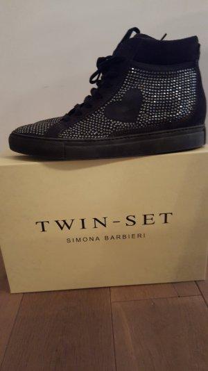 twin set sneaker schwarz neu