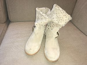 Twin set Slouch Booties cream-oatmeal suede