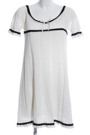 Twin set Ensemble en tricot blanc-noir style décontracté
