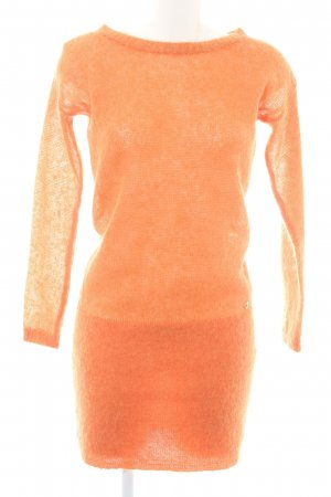 Twin set Strickkleid orange Casual-Look