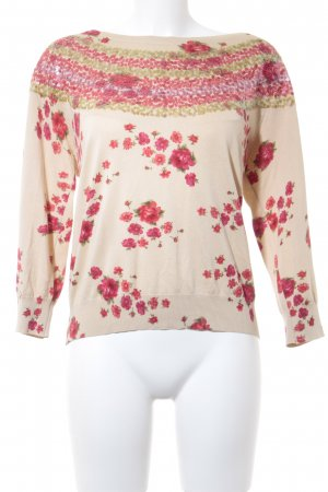 Twin set Strickpullover Blumenmuster Romantik-Look