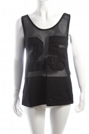 Twin-Set Tanktop schwarz Mustermix Casual-Look