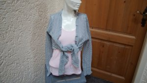 Chillytime Ensemble en tricot rose clair-gris clair coton