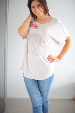 Twin Set Top Tshirt Druck rose  Simona Barbieri