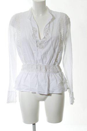 Twin set Blusa de túnica blanco elegante