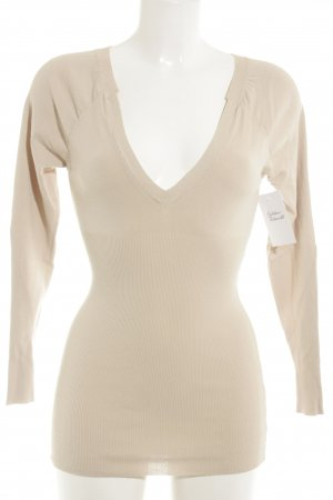 Twin set Jersey con cuello de pico beige estilo «business»