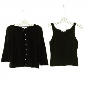 Vintage Knitted Twin Set black