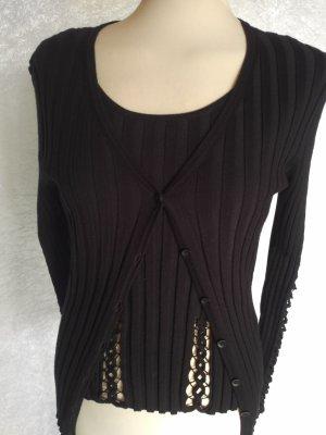 Heine Knitted Twin Set black