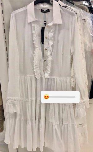 Twin-Set: Weißes Popeline-Kleid, 38, neuwertig!
