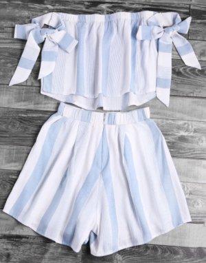Twin Set blanco-azul celeste