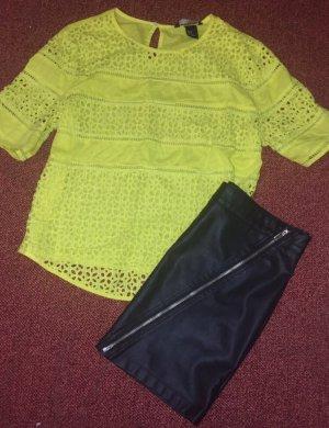 Twins Blusenhemd + Lederrock