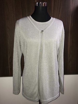 Tchibo / TCM Gilet tricoté argenté
