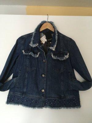 buy popular 560e6 70d9f TwinSet Simona Barbieri Denim Jacket cornflower blue-steel blue cotton