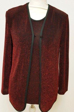 Ensemble en tricot rouge mûre viscose