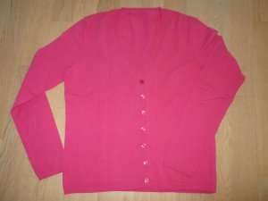 Sweater Twin Set magenta-raspberry-red