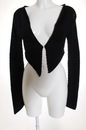 TwinSet Simona Barbieri Bolero schwarz schlichter Stil