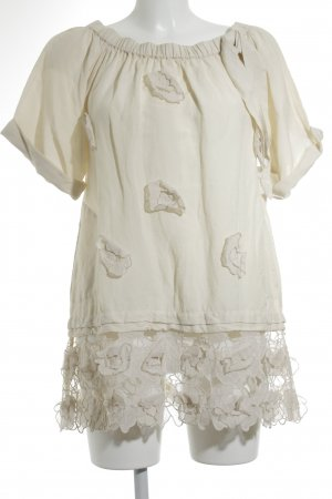 TwinSet Simona Barbieri Carmen Shirt cream romantic style