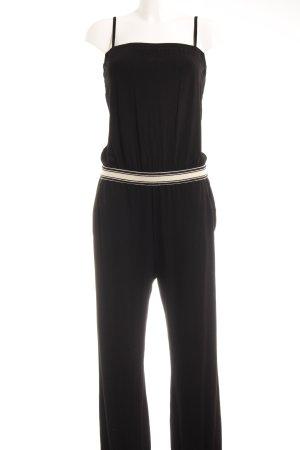 TwinSet Simona Barbieri Jumpsuit schwarz-creme Casual-Look