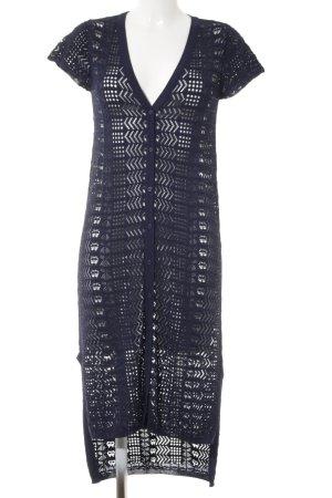 TwinSet Simona Barbieri Kurzarmkleid dunkelblau Elegant