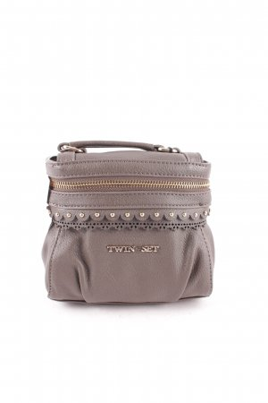 "TwinSet Simona Barbieri Mini Bag ""Cecile Satchel Bag Tortora"" grey brown"