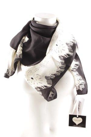TwinSet Simona Barbieri Seidentuch schwarz-creme abstraktes Muster Elegant
