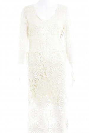 TwinSet Simona Barbieri Lace Dress cream floral pattern extravagant style