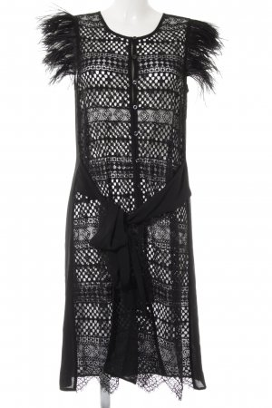 TwinSet Simona Barbieri Spitzenkleid schwarz Elegant
