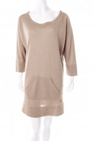 TwinSet Simona Barbieri Strickkleid beige-goldfarben Casual-Look