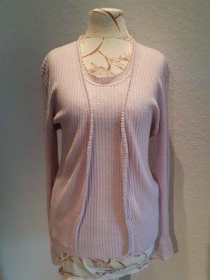 Allude Maglione twin set rosa chiaro