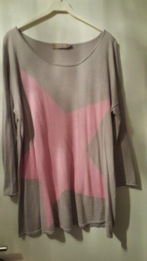 Thomas Rath Twin set grigio chiaro-rosa chiaro