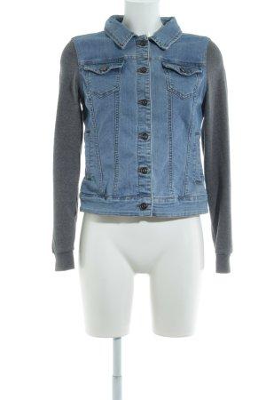 Twintip Jeansjacke grau-stahlblau Casual-Look