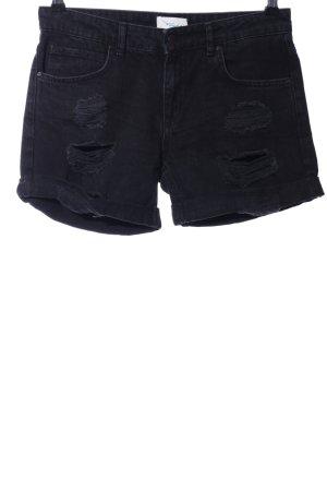 Twintip Jeansshorts schwarz Casual-Look