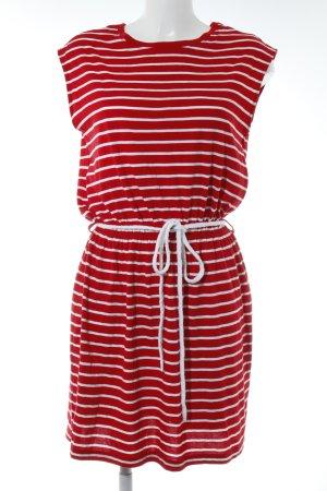 Twintip Jerseykleid rot-weiß Streifenmuster Casual-Look