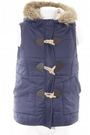 Twintip Hooded Vest blue quilting pattern casual look