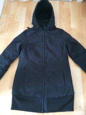 Twintip Mantel/Jacke mit abnehmbarer Kapuze M/L schwarz