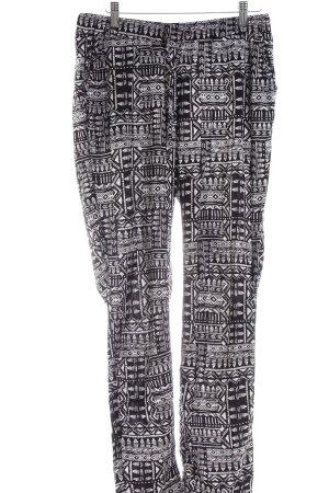 Twintip Stoffhose weiß-schwarz abstraktes Muster Casual-Look