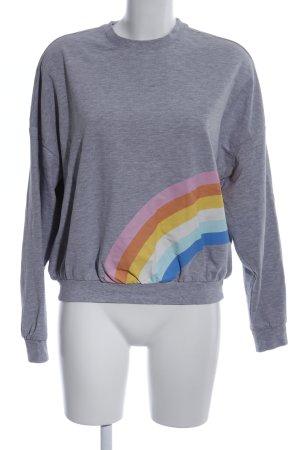 Twintip Sweatshirt lichtgrijs gestippeld casual uitstraling