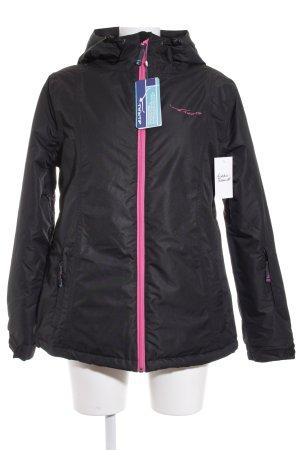 Twintip Winterjacke schwarz-pink sportlicher Stil