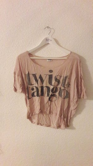 Twist&Tango Shirt Crop Cropped Cropshirt Nude Oversize Loose fit Boyfriend S