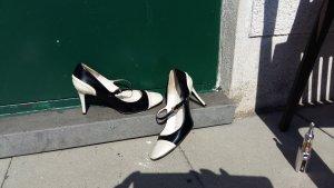 two-tone Lackpumps Mary Janes von Zara Gr 37 Schwarzweiß