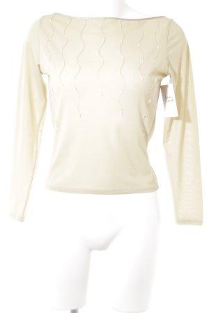 Boatneck Shirt beige elegant