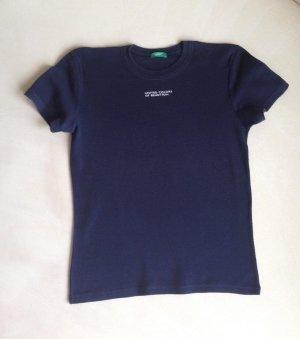 U C O BENETTON T-Shirt Damenmode dunkel blau Gr. XS