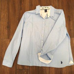 U.S. Polo Assn. Bluse hellblau XL Neu!
