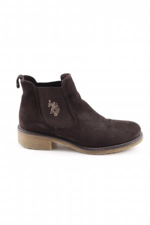 U.s. polo assn. Chelsea Boots black brown-white casual look